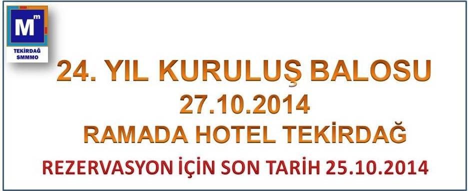 24. Kurulu� Balosu 27.10.2014