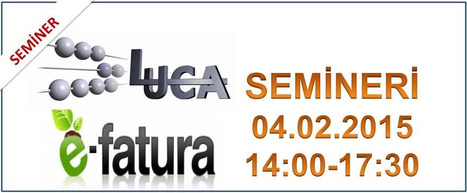 LUCA E-DEFTER E��T�M SEM�NER� (04.02.2015)