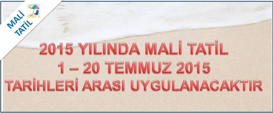 2015 Mali Tatil