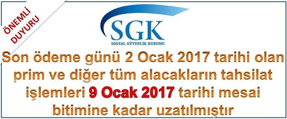 SGK Prim ve Taksit Ödeme tarihi uzatma