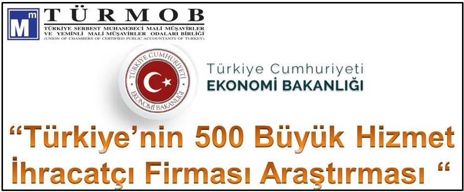 Türkiye'nin 500 Büyük Hizmet İhracatçı Firması Araştırması