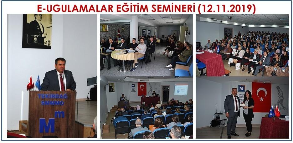E-Uygulamalar Eğitim Semineri (12.11.2019)