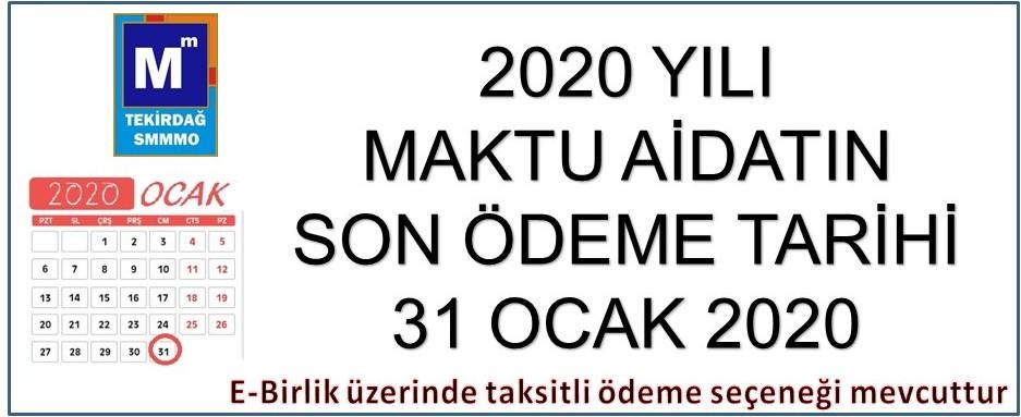 2020 Maktu Aidat