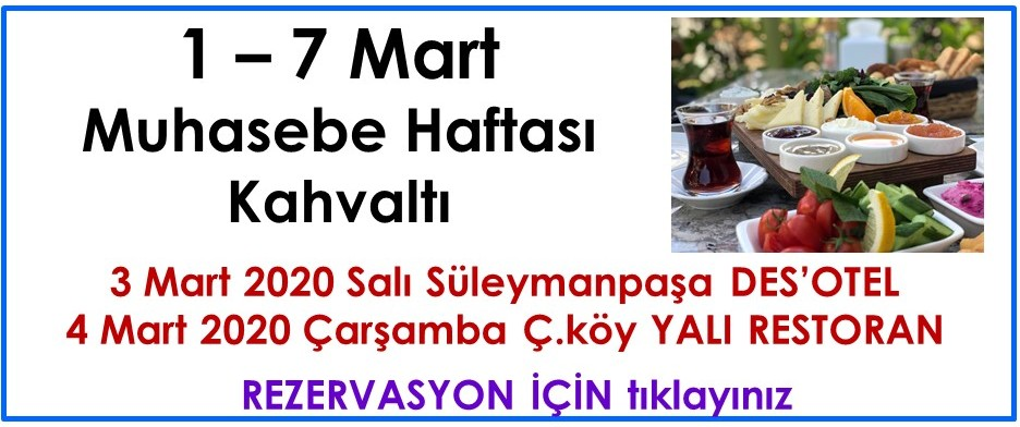 1-7 Mart Muhasebe Haftası Kahvaltı