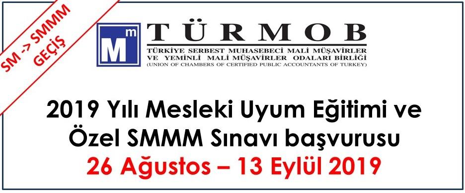 2019 Yılı Meslek Uyum Eğitimi ve Özel SMMM Sınavı hk.