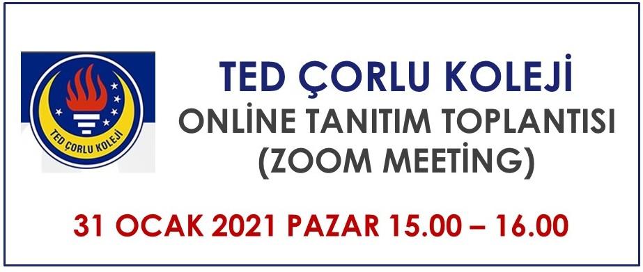 TED Çorlu Koleji Online Tanıtım Toplantısı
