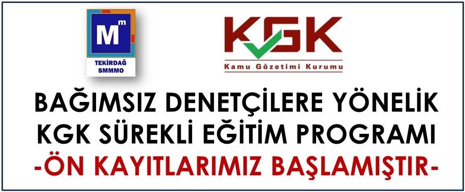 KGK Bağımsız Denetçi Sürekli eğitim Programı