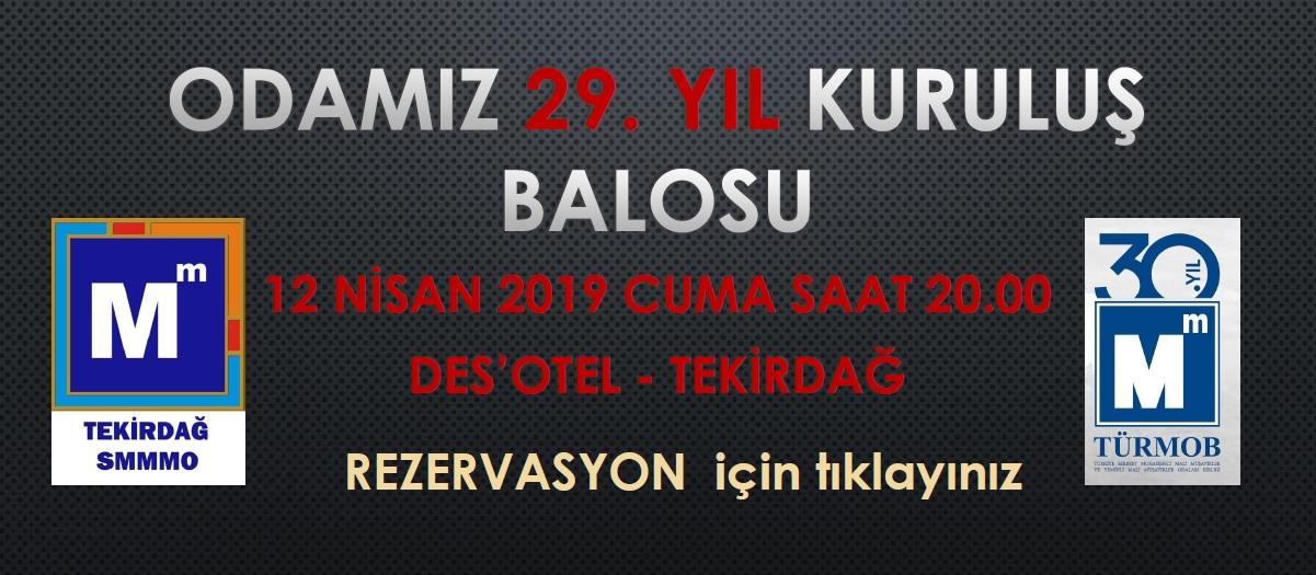 29. Yıl Kuruluş Balosu (12.04.2019)